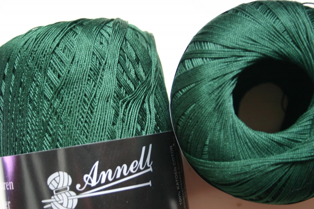 green crochet cotton